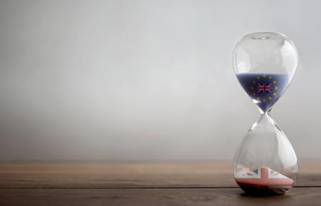 Photo pour Brexit hourglass background - image libre de droit