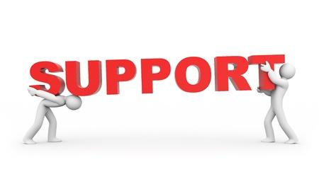 Photo pour Support concept - image libre de droit