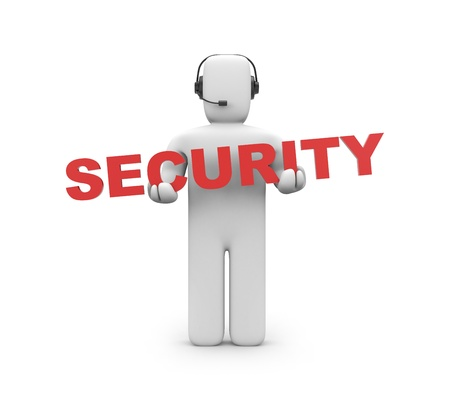 Security concept  Isolated on white