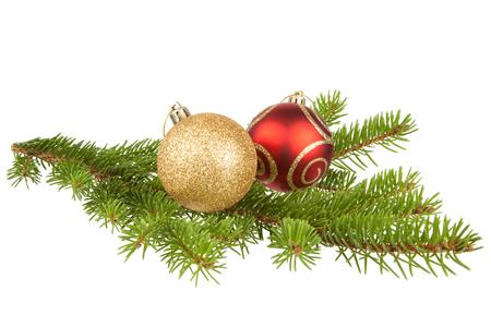 Fir branch with Christmas balls