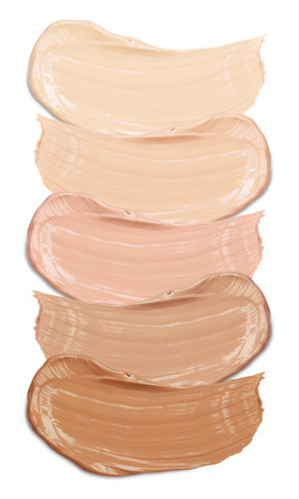 Foto de foundation swatches on white background - Imagen libre de derechos