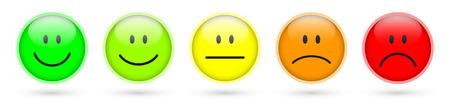 Illustration pour smiley faces rating icons - image libre de droit