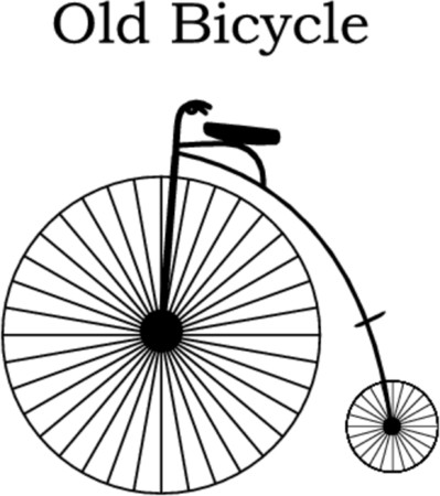 unicycle - old bicycle vector ilustration