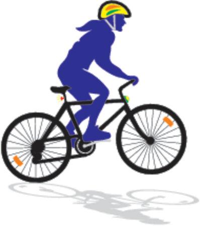 active biker - vector ilustration
