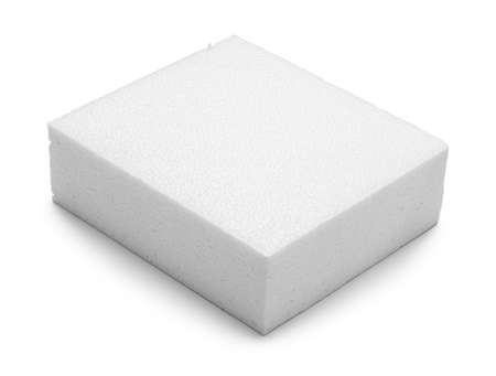 Photo pour Large Block of polystyrene Isolated on White. - image libre de droit