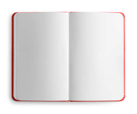 Photo for Open Sketch Book Top View Cut Out. - Royalty Free Image