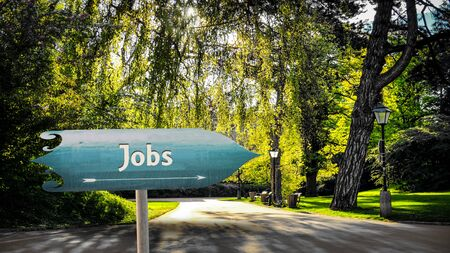 Photo for Street Sign the Direction Way to Jobs - Royalty Free Image
