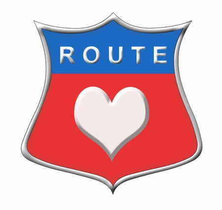 Route Heart sign