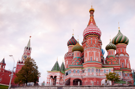 Saint Basil's Cathedral in the evening