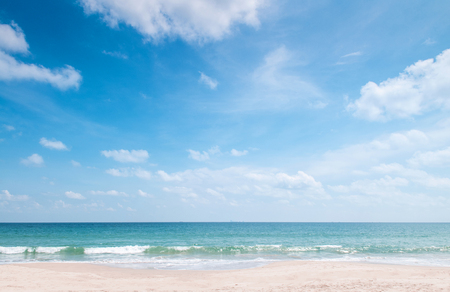 Photo for Summer at Bakantiang beach in Koh Lanta  with clear blue sky and clouds - Krabi, Thailand - Royalty Free Image