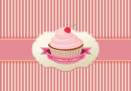 Cupcake background retro