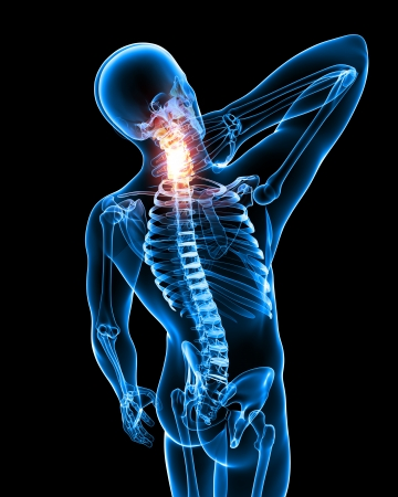 X-ray Anatomy of Neck pain in black