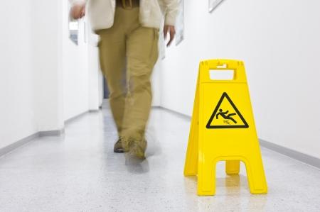 Warning sign slippery floor