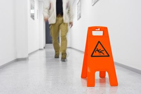 Warning sign for slippery floor