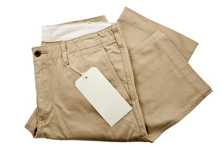 Trousers with tagging