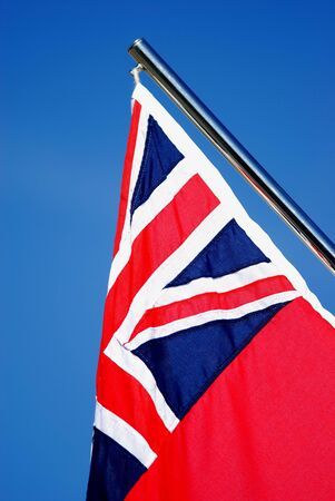 very nice flag with very great blue sky