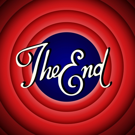 The End - Vintage Movie Screen