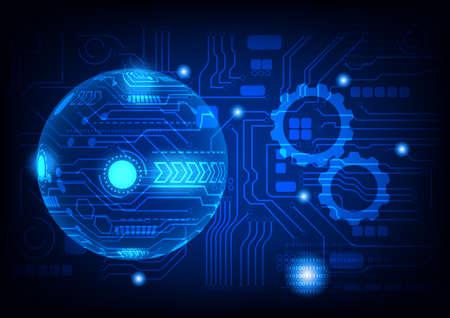 Ilustración de graphics design illustration digital circuit with binary coded decimal diagram technology for background wallpaper vector illustration   - Imagen libre de derechos