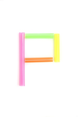 Alphabet colorful straw