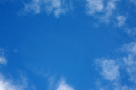 Blue sky with cloud frameの写真素材