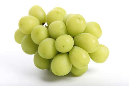 Foto für Green grape isolated in white background - Lizenzfreies Bild