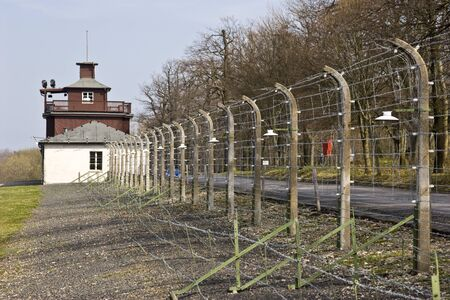 Prison fence at Buchenwald concentration camp. Germany