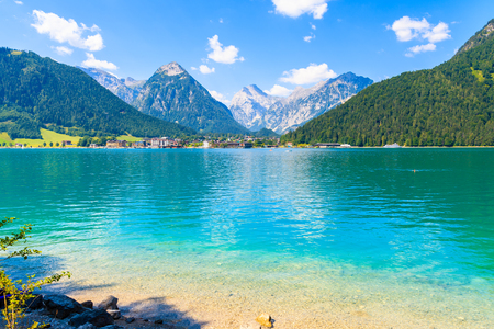 Photo for Cystal clear water of Achensee lake near Pertisau town on sunny summer day, Tirol, Austria - Royalty Free Image