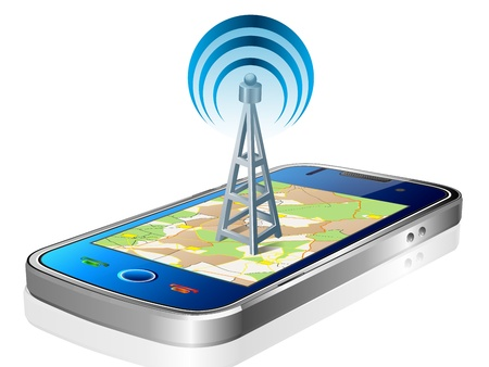 Touchscreen smartphone with GPS navigation