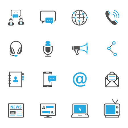 Illustration for Communication Icons - Royalty Free Image