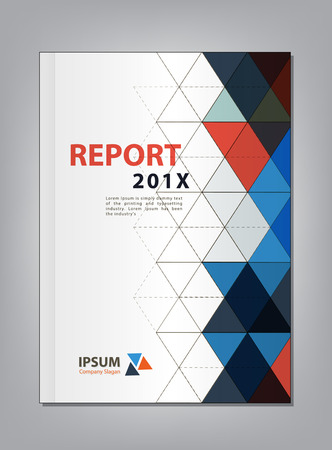 Modern Annual report Cover design, Multiply Triangle theme concept