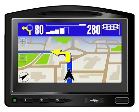 Illustration pour Modern GPS. This image is a vector illustration  - image libre de droit