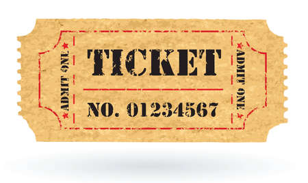 Old Vector vintage paper ticket with number - vector