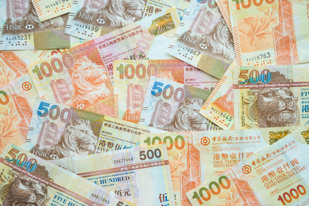 Photo for Hong Kong currency banknotes 500 and 1000 HK dollars - Royalty Free Image