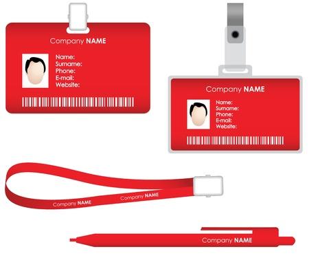 Illustration pour Name tag for id card - image libre de droit