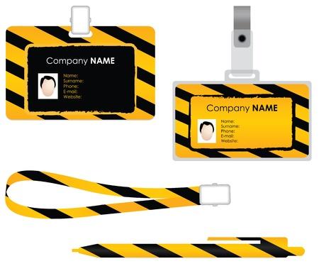 Illustration pour Name tag for id card - special design - image libre de droit