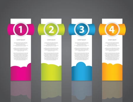 set of colorful sample labels for various options