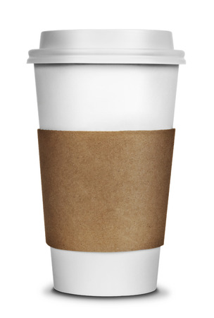 To go Coffee Cup isolated on a white background