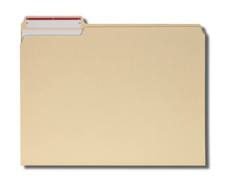 Photo pour Manila folder with some documents in it.? - image libre de droit