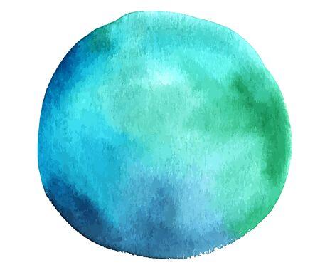 Ilustración de Vector and watercolor teal blue abstract design element - Imagen libre de derechos