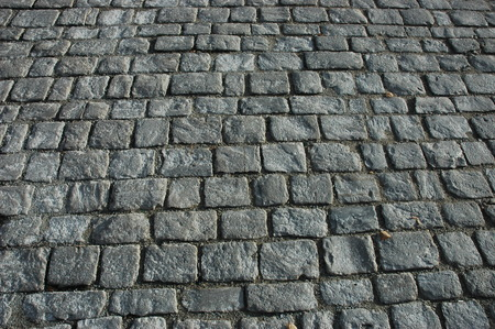 An old cobblestone road