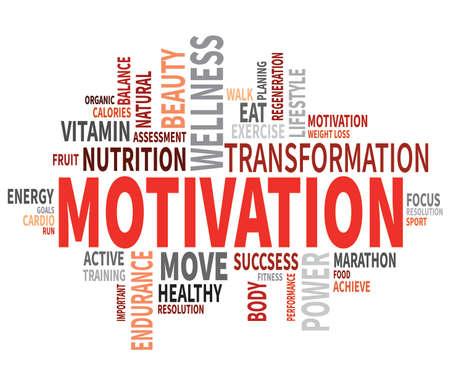 Ilustración de Motivational Fitness Poster - Imagen libre de derechos