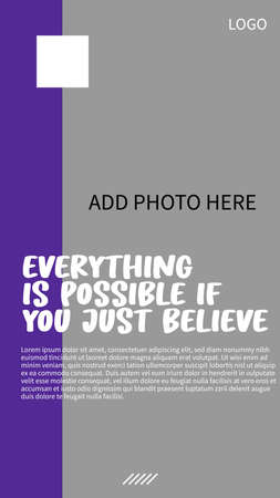 Illustration for simple social media story design - Royalty Free Image