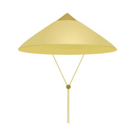 Illustration for Beige vietnamese hat. vector illustration - Royalty Free Image