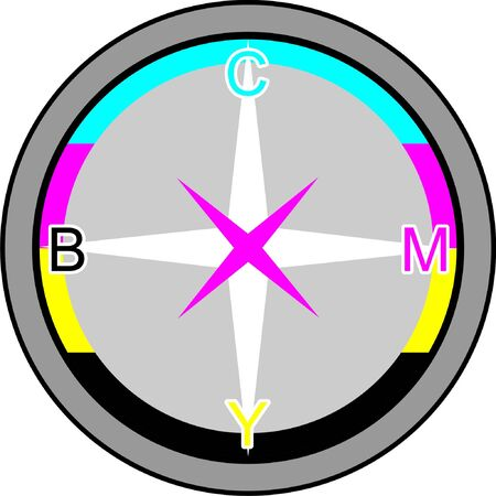 Compass, in CMYK