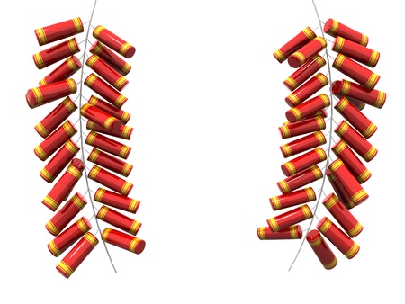 Fire cracker fo chinese new year isolated 3d illustration