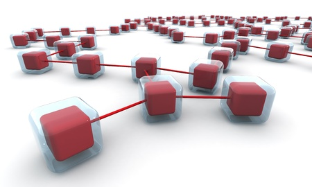 Business network structure or connection concept white background 3d illustration