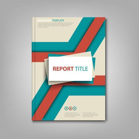 Illustration pour Brochures book or flyer  abstract design in red blue color vector - image libre de droit