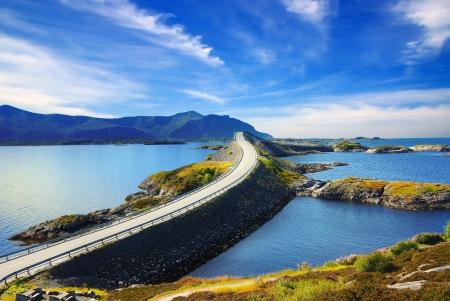Picturesque Norway landscape. Atlanterhavsvegen