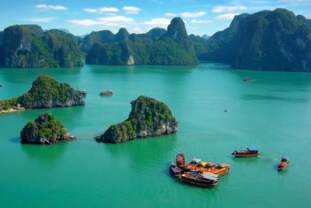 Picturesque sea landscape. Ha Long Bay Vietnam