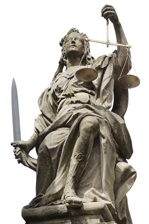Statue of Justice in Schloss Weikersheim, Germany